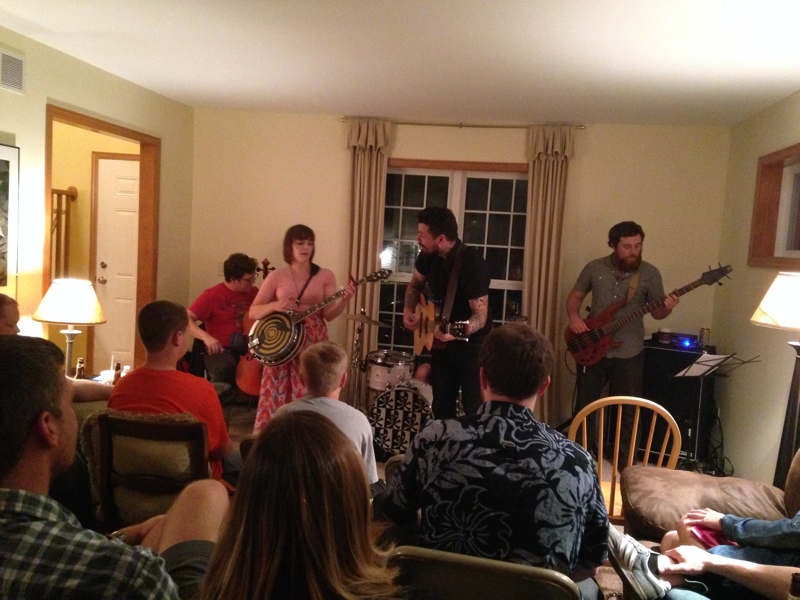 A house concert in action